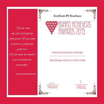 Best-Design-Institute-in-North-India award insd