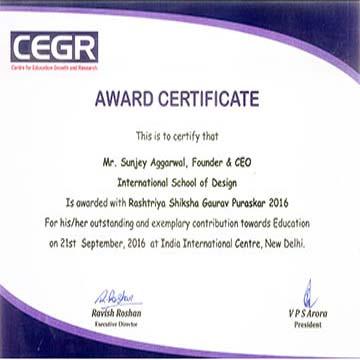 Rashtriye-Gaurav-award insd pune baner