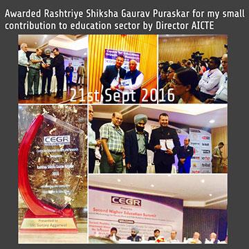 awarded-with-rashtriya-gaurav-puraskar insd pune